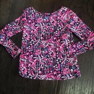 Lilly Pulitzer Tristan Top small long sleeve Tee